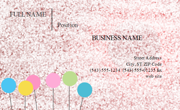 Simple Gray Business Card Front