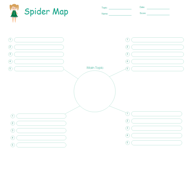 Spider Map Free Spider Map Templates