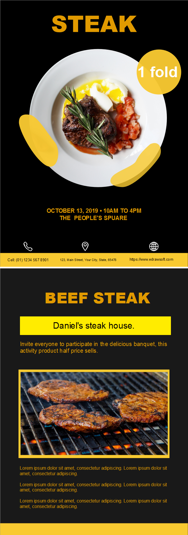 steak restaurant flyer free steak restaurant flyer templates