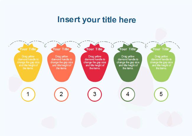 free strawberry shape list presentation templates