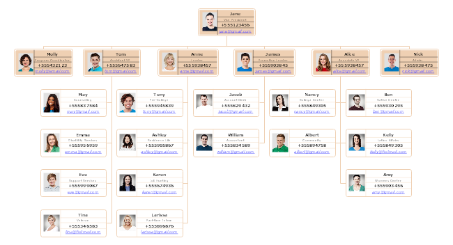 student union school organizational chart example