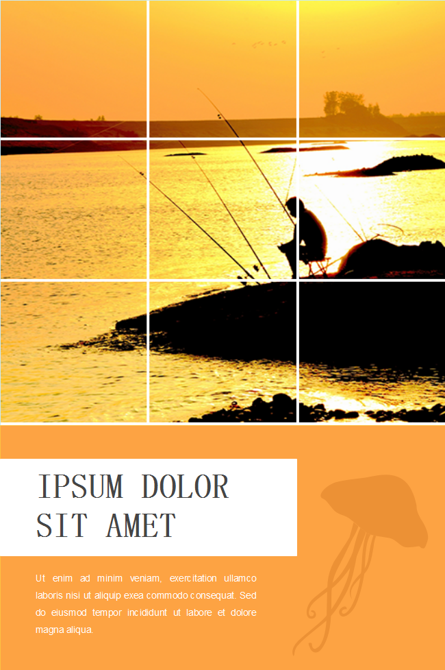 Sunset Fishing Poster