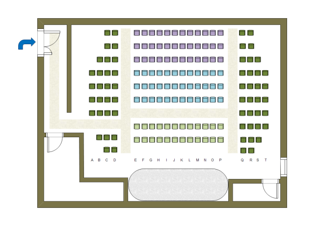 Theater table plan