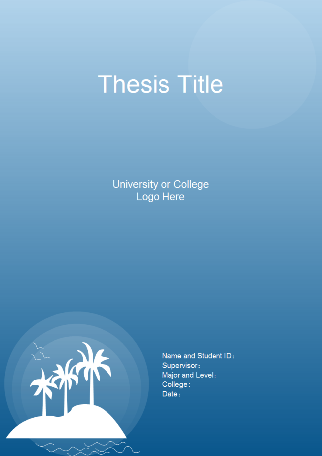 Thesis Title Page Free Thesis Title Page Templates - Presentation cover page template