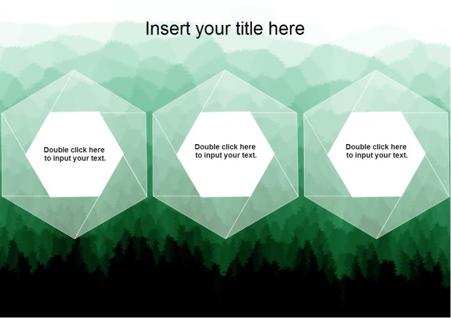 Three Hexagons Powerpoint Free Three Hexagons Powerpoint Templates