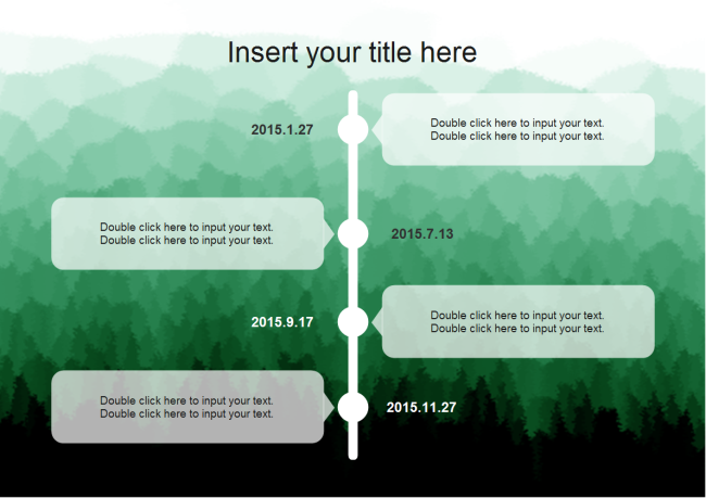 Timeline with Forest Background