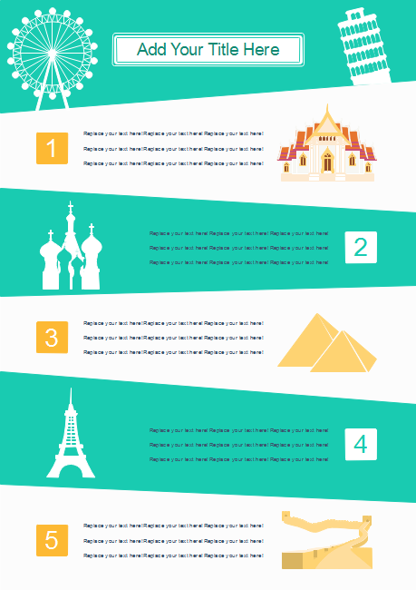 Tourist Sites Infographics