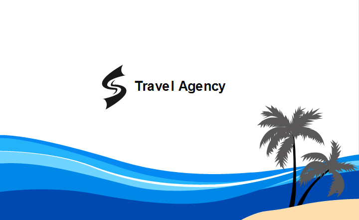 Travel Agency Business Card Template Back