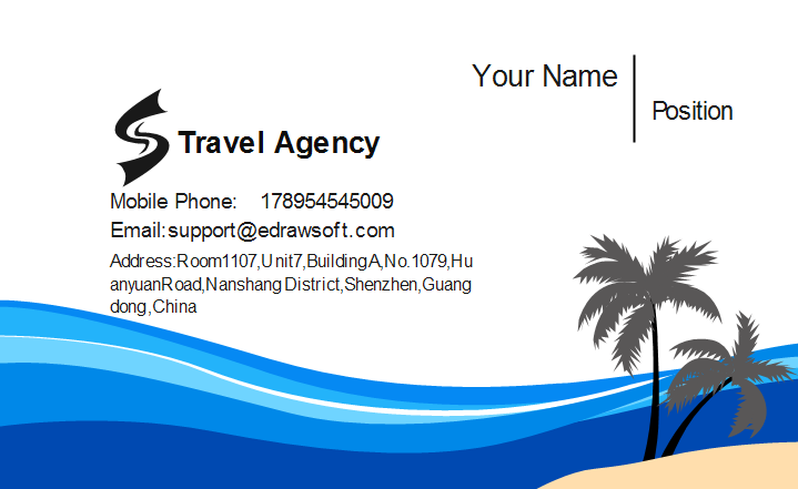 travel agent business cards templates