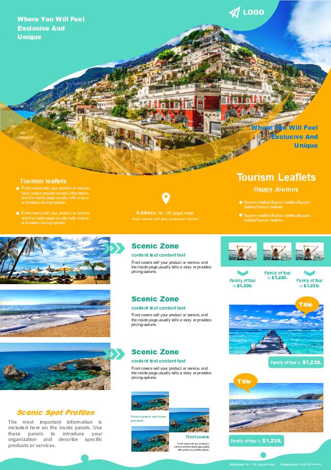 free travel agency sales brochure templates