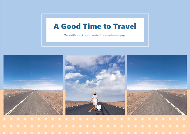 Travel Alone Photo Collage
