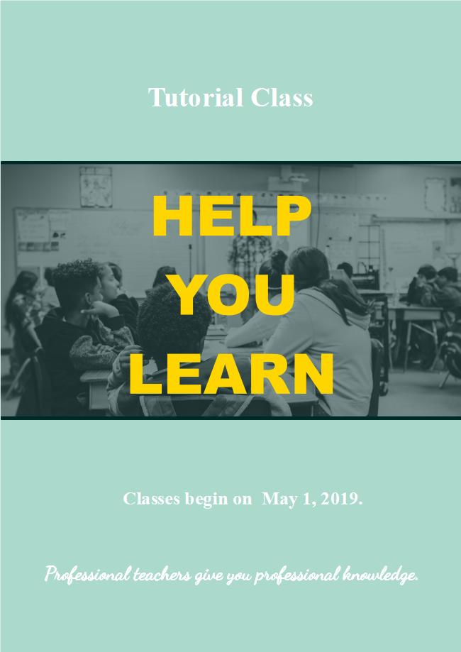 class flyer template