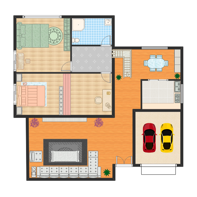 Design Your Own Bedroom Online Free: Free Two Bedroom House Plan Templates