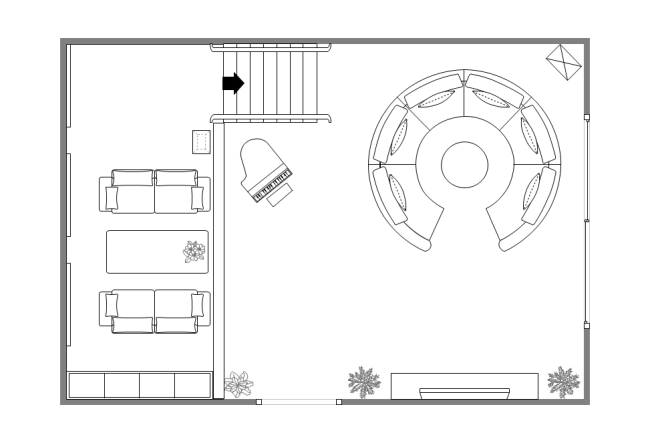 Two-Floor Living Room Plan | Free Two-Floor Living Room Plan Templates