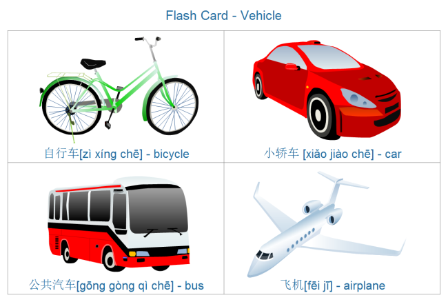 Vehicle Flashcard