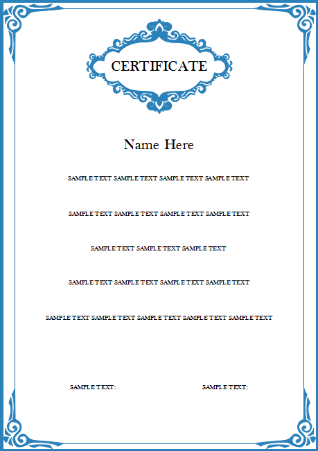 Vertical certificate free vertical certificate templates to create certificate you can learn yelopaper Gallery