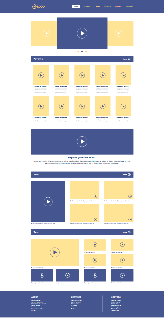 Video Website Wireframe