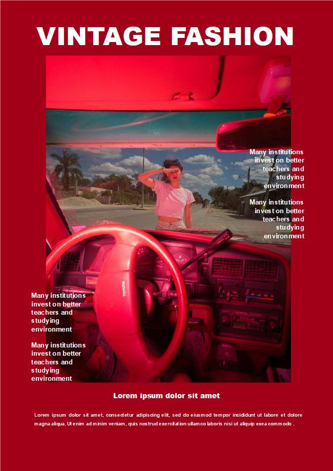 free vintage fashion magazine cover templates