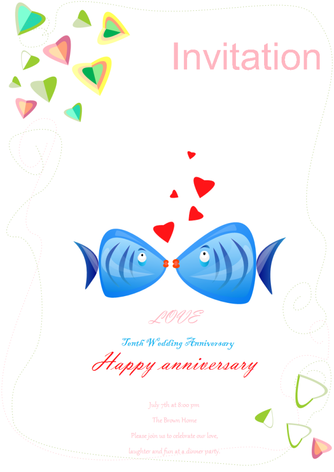 Wedding Anniversary Invitation Free Wedding Anniversary
