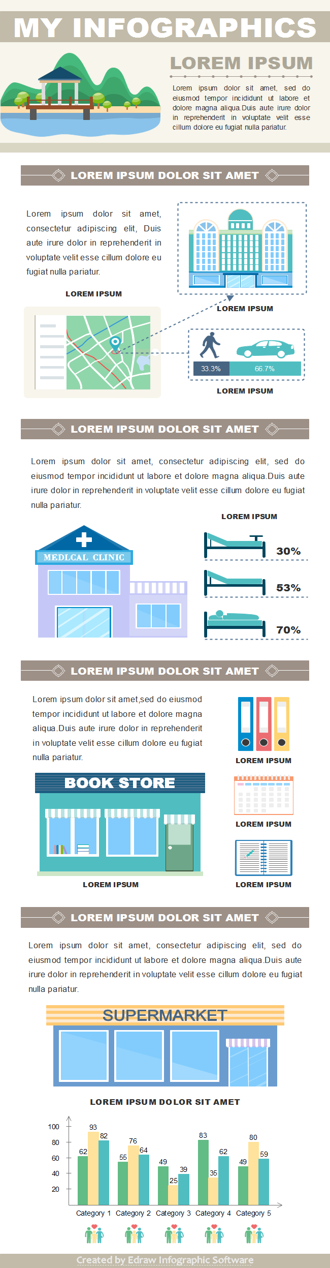 Marketing Infographics Template3
