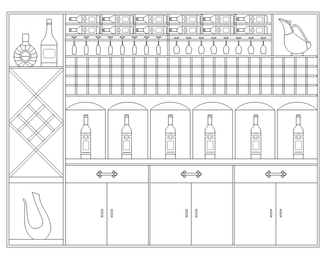 Elevation Plan Template : Wine rack elevation free templates