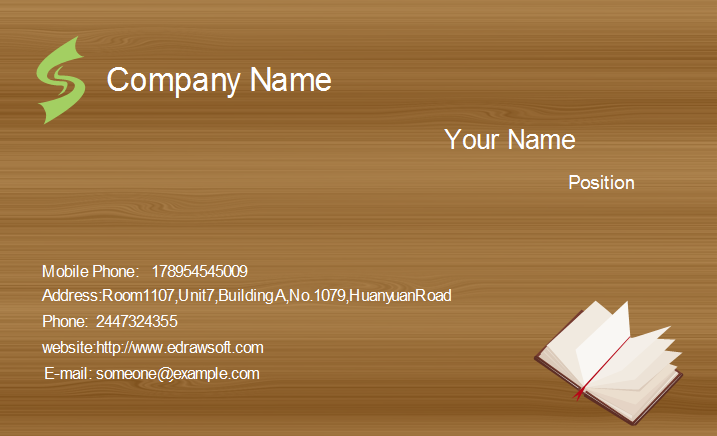 Wood texture business card template colourmoves