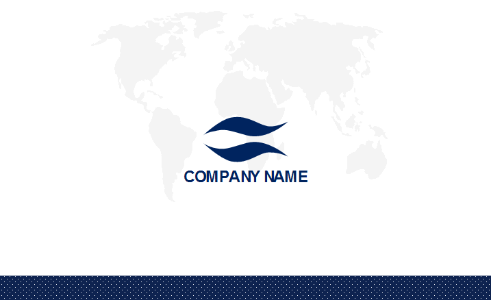 World Map Business Card Template Back