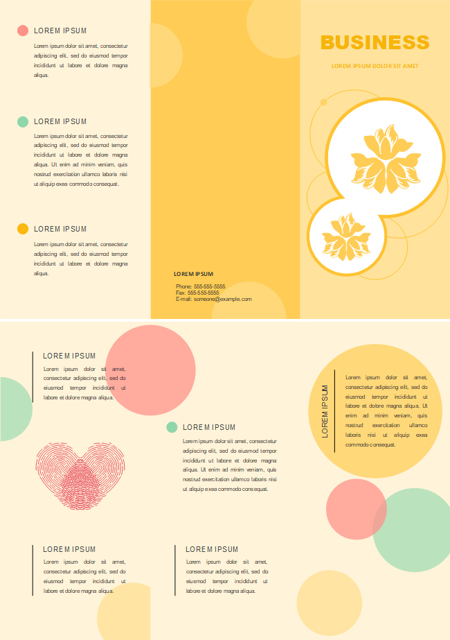 Free Yellow Background Brochure Templates