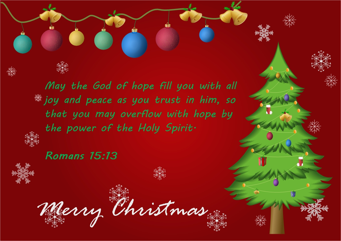 Delightful Christmas Card With Bible Quote ... To Christmas Greetings Sample