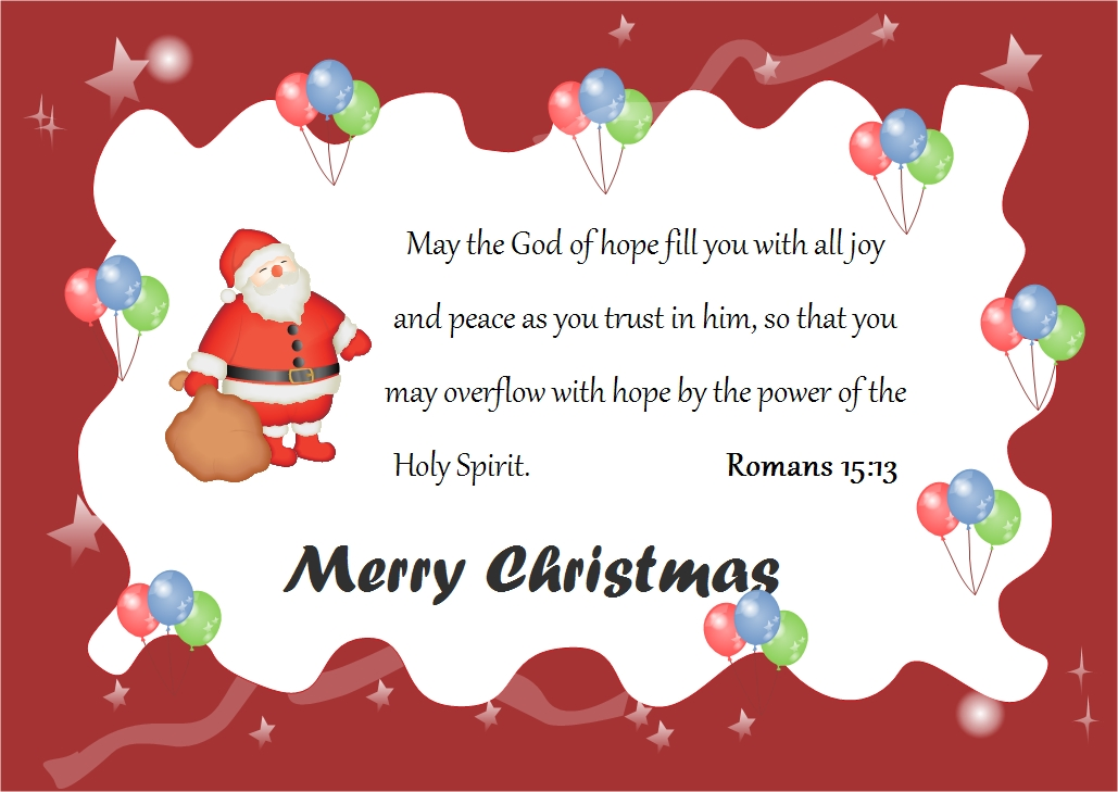 Christmas Card God Words – Words for Christmas Card