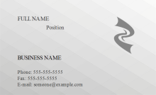 3D Grid Business Card Front