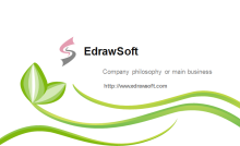 Abstract Green Business Card Back