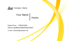 Abstract Yellow Business Card Front