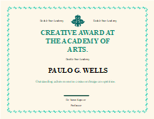Free award certificates templates template resources free award certificate templates academy award certificate yadclub Choice Image