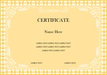 Modèle de certificat de récompense