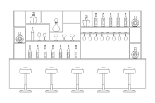 Bar Cabinet Elevation