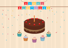 Cake Birthday Card Template