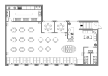 Office Layout. Canteen Design Layout
