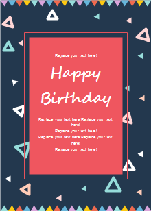 Celebration Birthday Card Template