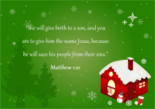 Christmas Card with Bible Scripture