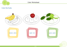 Color Fruits Worksheet