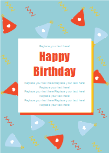 Wizard Hat Birthday Card Template