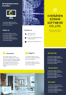 Free Company Introduction Brochure Templates