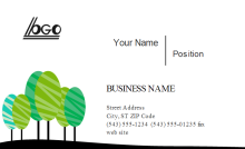 Eco Friendly Business Card Front