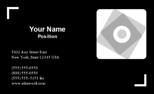 Film Industry Business Card Front