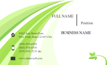 Fresh Green Business Card Front