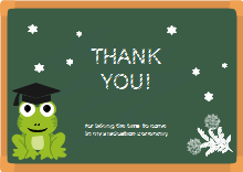 Frog Thank You Card Template