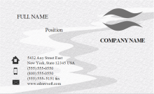Frosted Effect Business Card Front