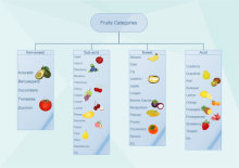 Fruit Categorization Tree Chart