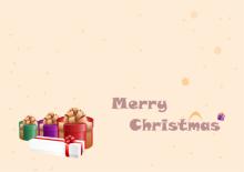 Weihnachtskarte mit Geschenken